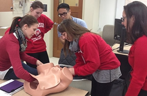 The DFM hosted the first Basic Life Support in Obstetrics course for SMPH students in February.