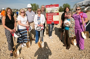 Groundbreaking at the new UW Health Cottage Grove clinic, one of two new family medicine clinics opening this winter.