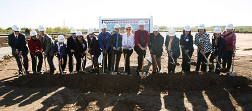 Groundbreaking at the new UW Health Fort Atkinson clinic.