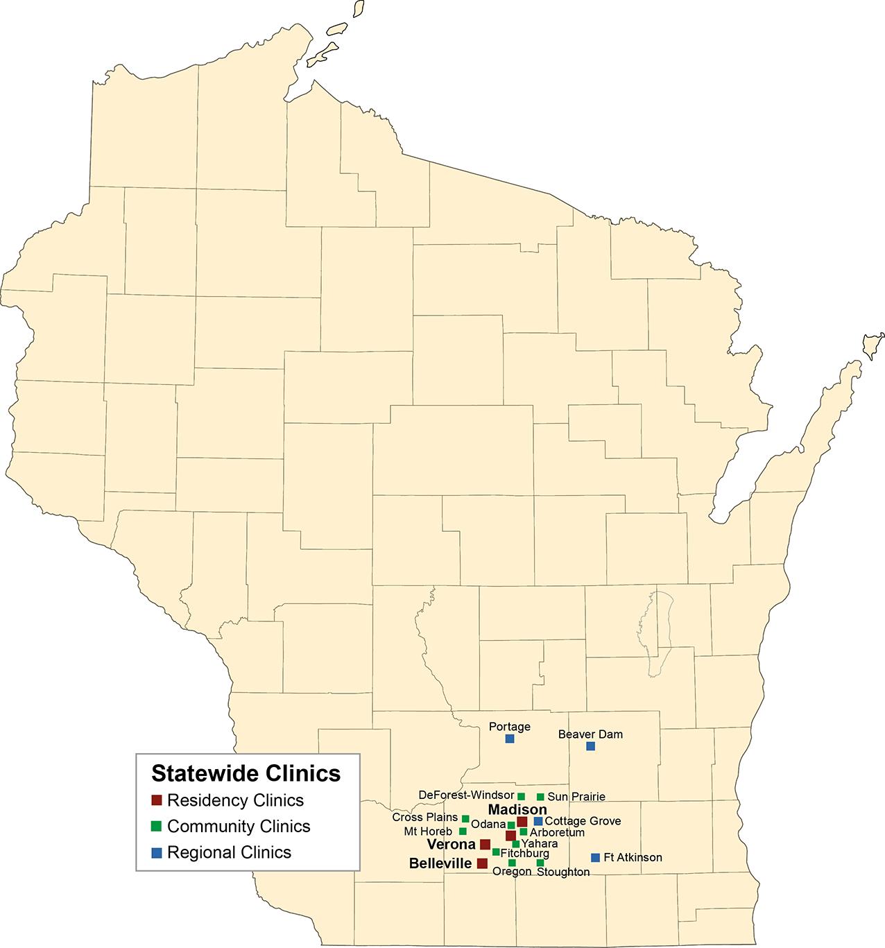 DFMCH Clinics Map