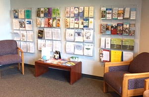 Northeast Clinic's patient and family advisory council suggested a new patient information center in the clinic waiting area.