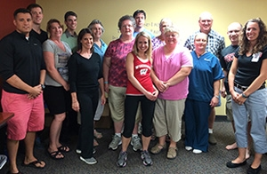 Participants, faculty and staff from the Verona Clinic 2020 Fitness and Lifestyle Challenge, a pilot program that helps patients develop healthy lifestyles.