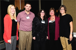 Belleville Clinic faculty and staff: Anna Helwig, RN; Michael Bloyer; Lisa Way; Sally Jeglum; Jennifer Lochner, MD. A Microsystems team there won a Davis Award for improving lab result communication.