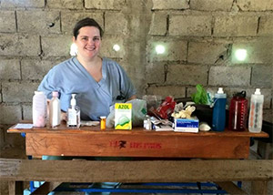 Jaime Stringer, MD, at one of the mobile clinics in Haiti.