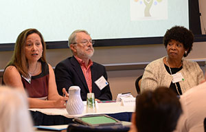 Panelists, from left: Cristy Garcia-Thomas; David Kindig, MD, PhD; and Doriane Miller, MD.