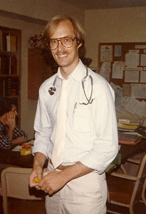 Dr. O'Connell at the Wausau Clinic in 1984.