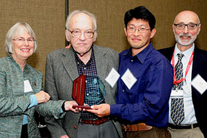 Left to right: Valerie Gilchrist, MD; Marc Hansen, MD; Hansen Lecturer Jonas Lee, MD; and Kenneth Kushner, PhD