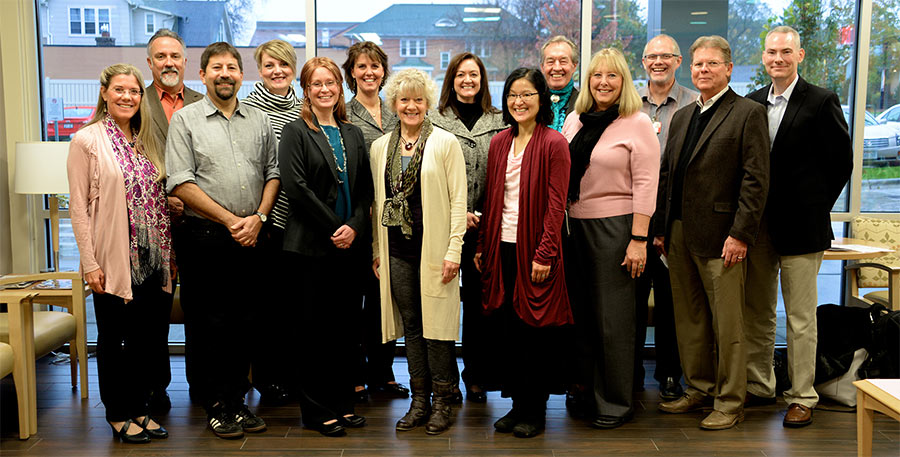 The DFMCH's integrative health team met with key leaders from the Veterans Health Administration and Pacific Institute for Research and Evaluation to discuss the next phase of the Whole Health initiative.