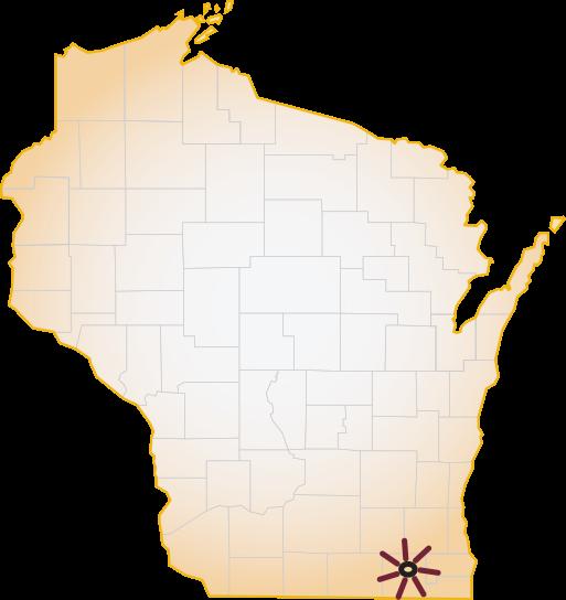 Aurora Lakeland Rural Training Track Family Medicine Residency - WI Map