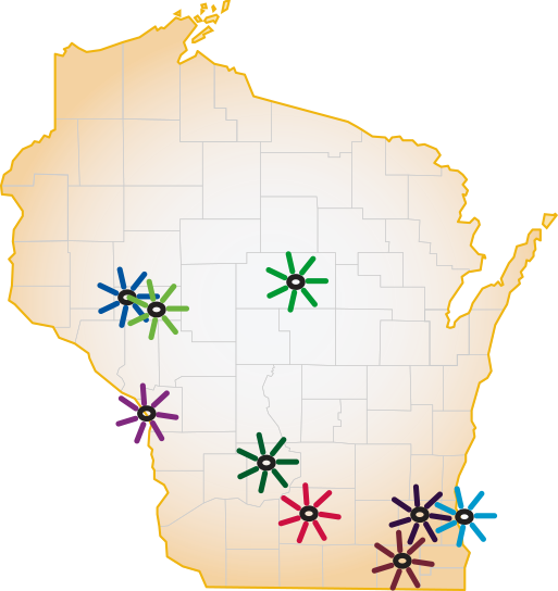 UW Family Medicine Residency Programs - WI Map