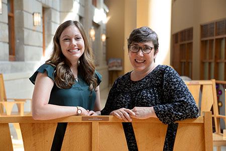 Kelsey Schmidt, MD, (left) and Karyn Cecele, MD
