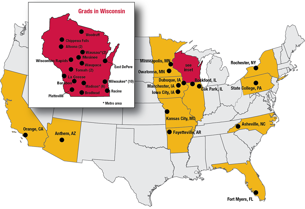 2020 Residency Grads Map