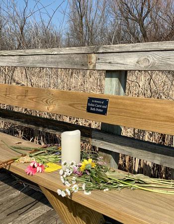 Potter memorial bench