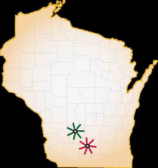 UW Family Medicine Residency Programs - WI Map